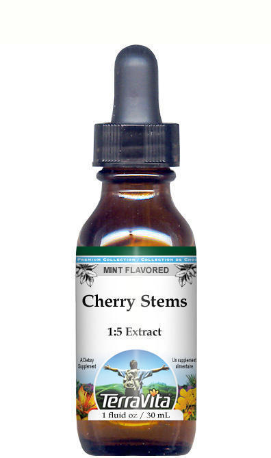 Cherry Stems Glycerite Liquid Extract (1:5) - Mint Flavored