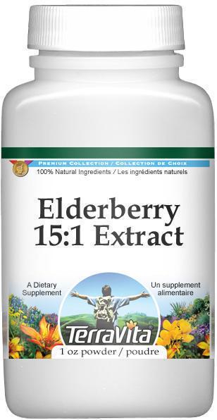 Extra Strength Elderberry 15:1 Extract Powder