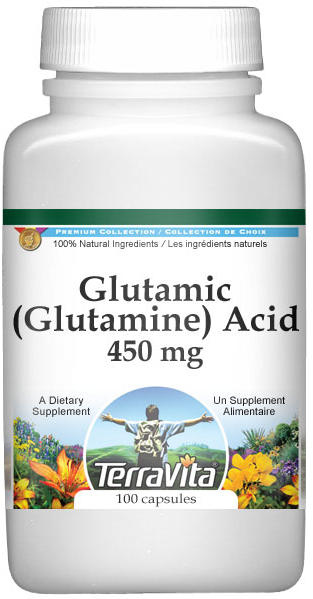 Glutamic (Glutamine) Acid - 450 mg