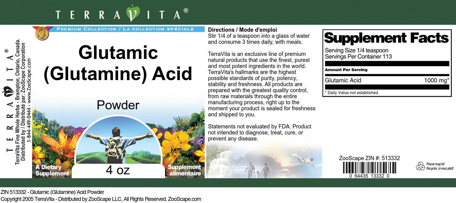 Glutamic (Glutamine) Acid Powder