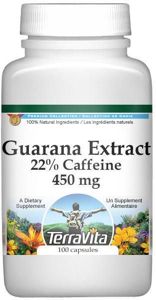 Guarana Extract - 22% Caffeine - 450 mg