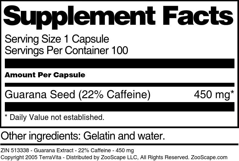 Guarana 22% Extract