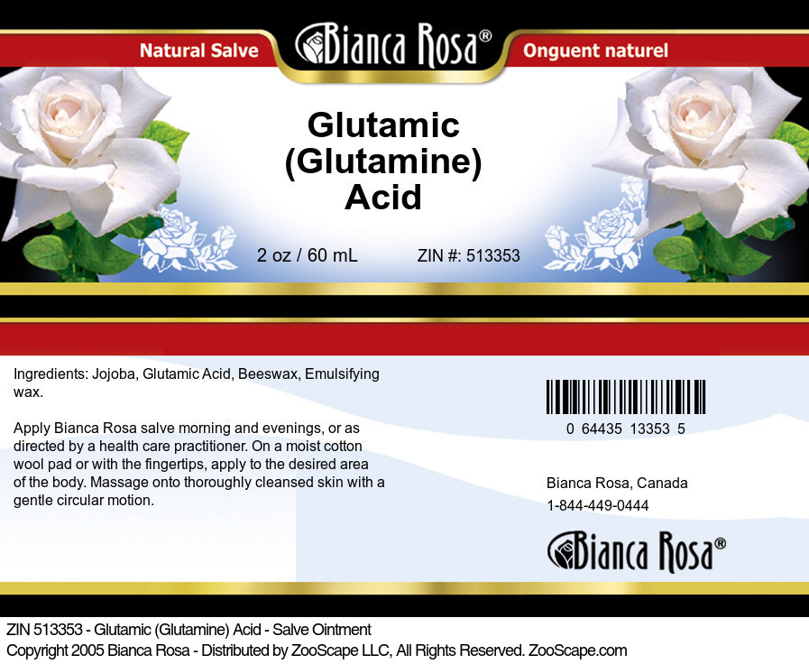 Glutamic (Glutamine) Acid - Salve Ointment