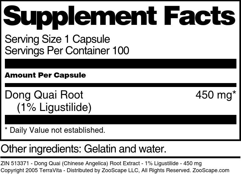 Dong Quai Root 1% Extract