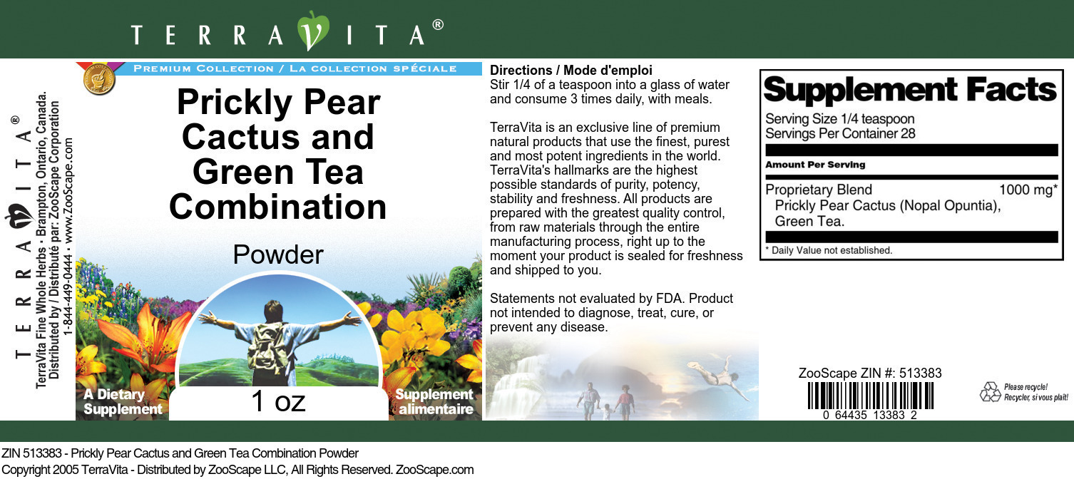 Prickly Pear Cactus and Green Tea