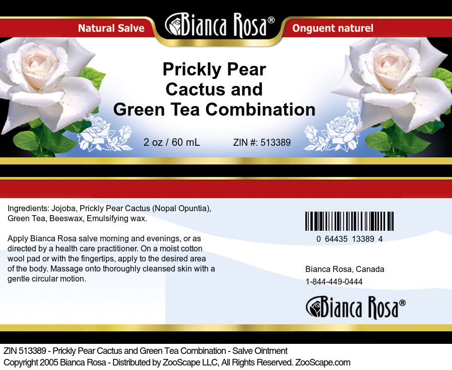 Prickly Pear Cactus and Green Tea Combination - Salve Ointment