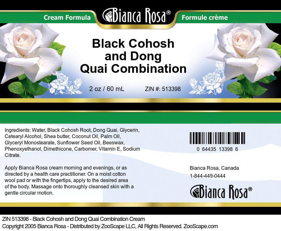 Black Cohosh and Dong Quai Combination Cream