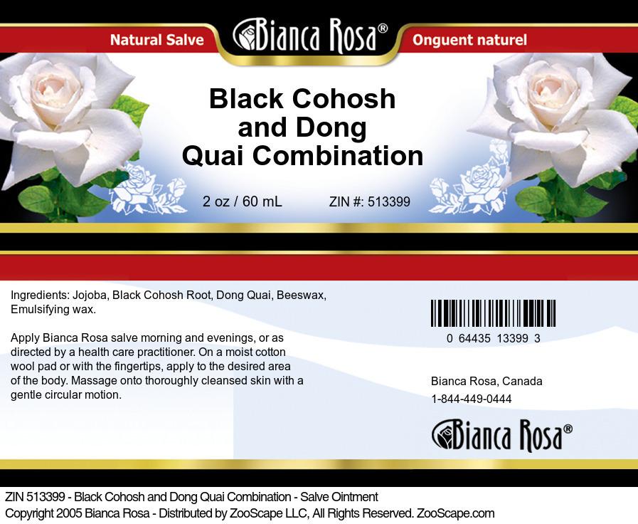 Black Cohosh and Dong Quai Combination - Salve Ointment