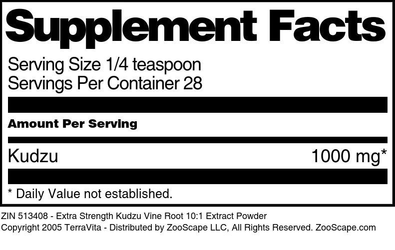 Extra Strength Kudzu Vine Root 10:1 Extract Powder