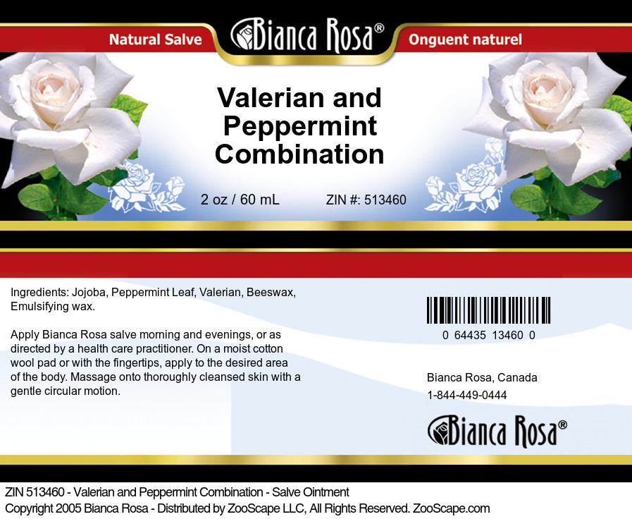Valerian and Peppermint Combination - Salve Ointment