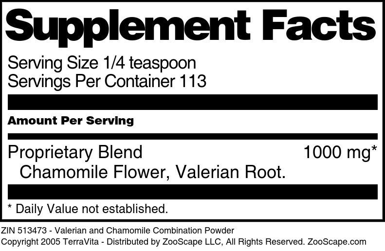 Valerian and Chamomile Combination Powder