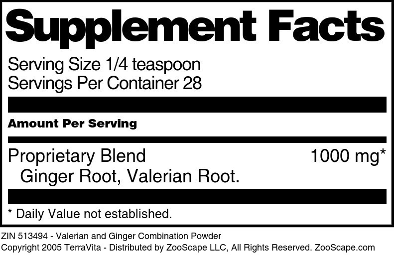 Valerian and Ginger Combination Powder