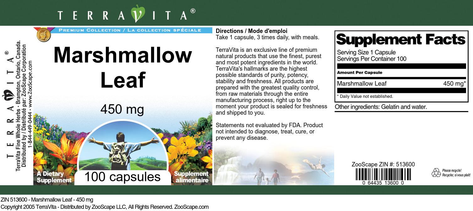 Marshmallow Leaf - 450 mg