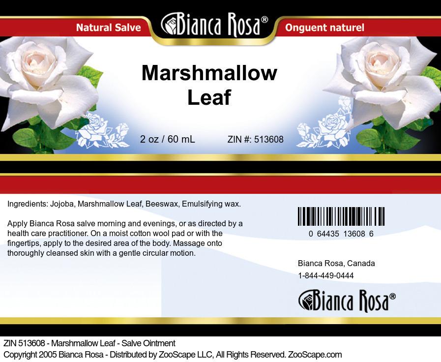 Marshmallow Leaf - Salve Ointment