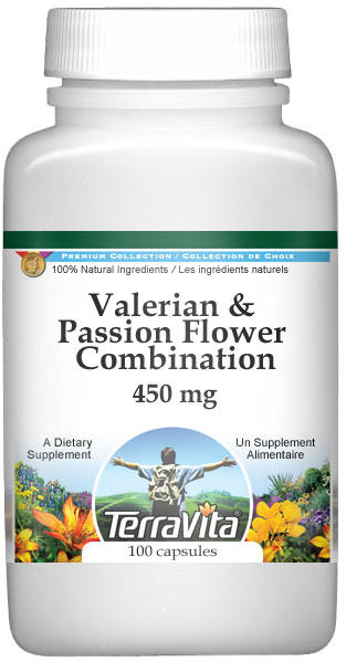 Valerian and Passion Flower Combination - 450 mg