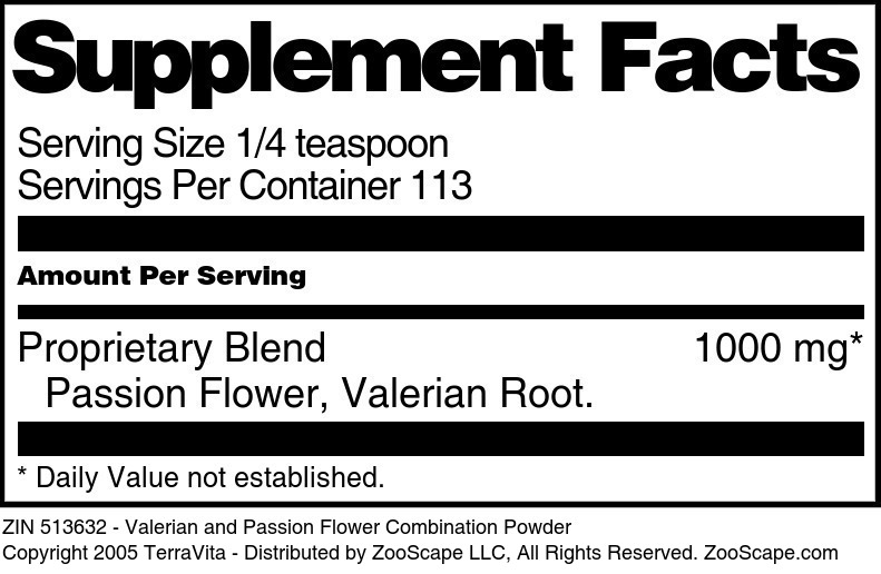 Valerian and Passion Flower Combination Powder