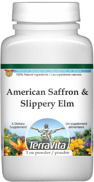 American Saffron and Slippery Elm Bark Combination Powder
