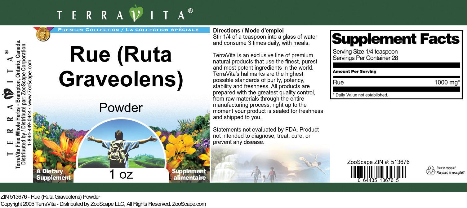 Rue (Ruta Graveolens) Powder