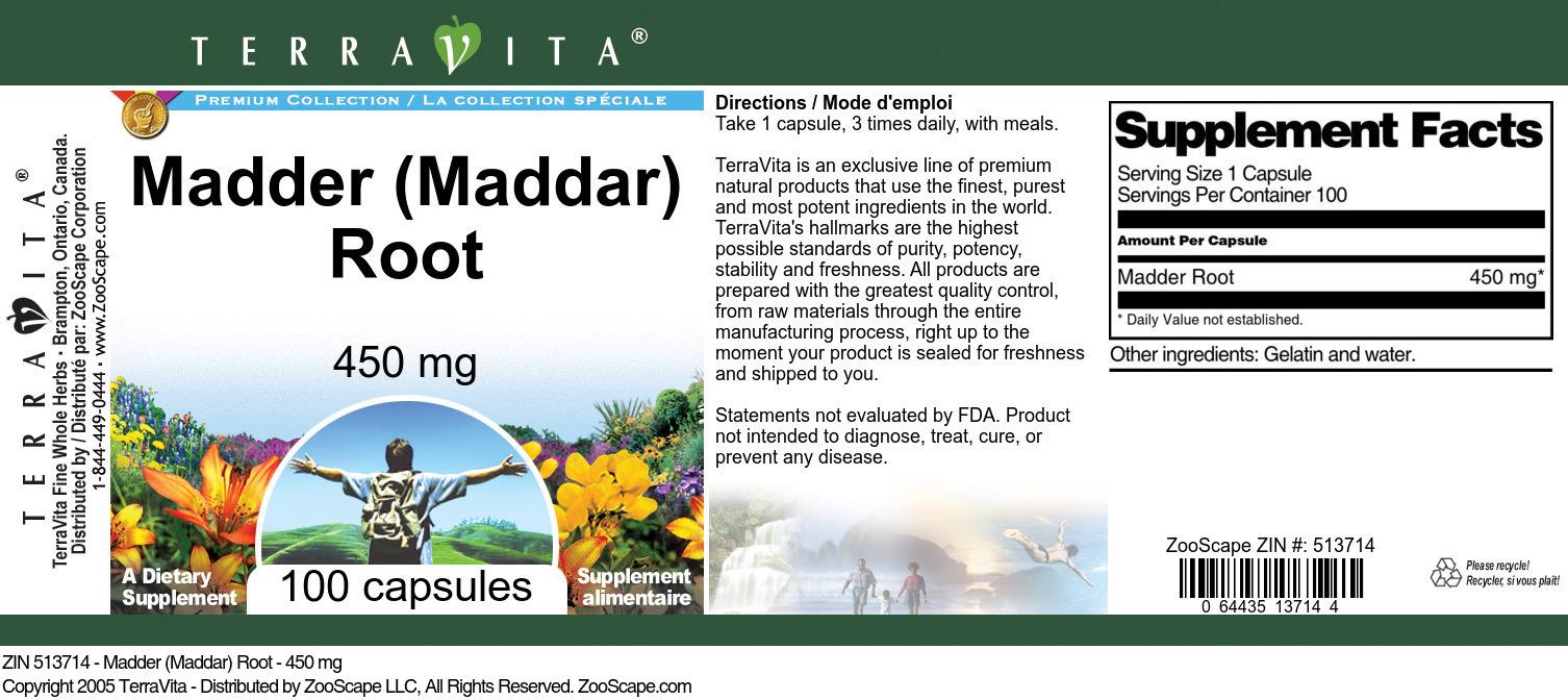 Madder (Maddar) Root - 450 mg