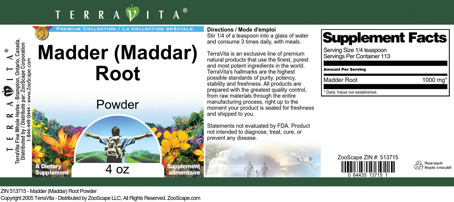 Madder (Maddar) Root Powder