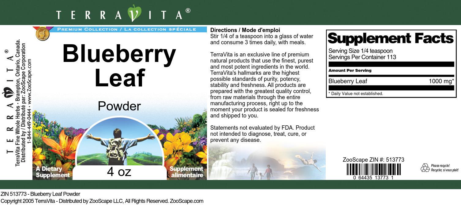 Blueberry Leaf Powder