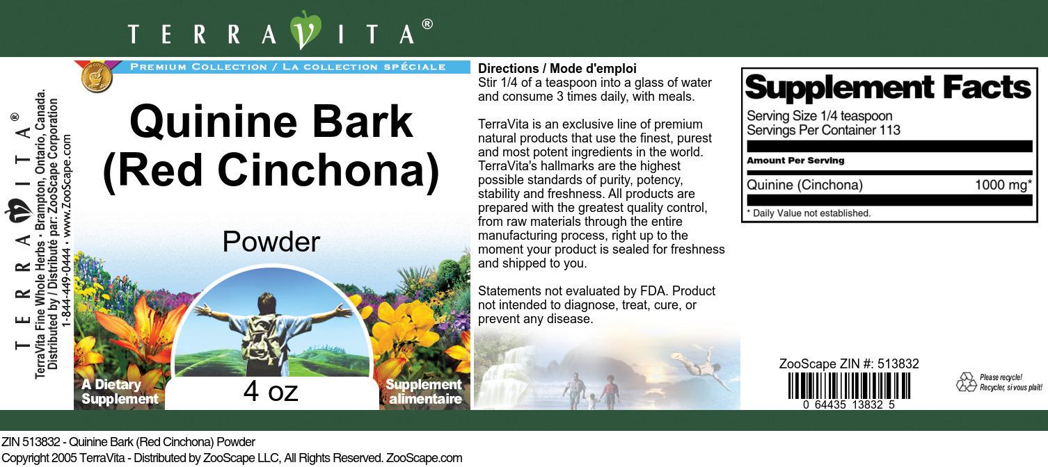 Quinine Bark (Red Cinchona) Powder