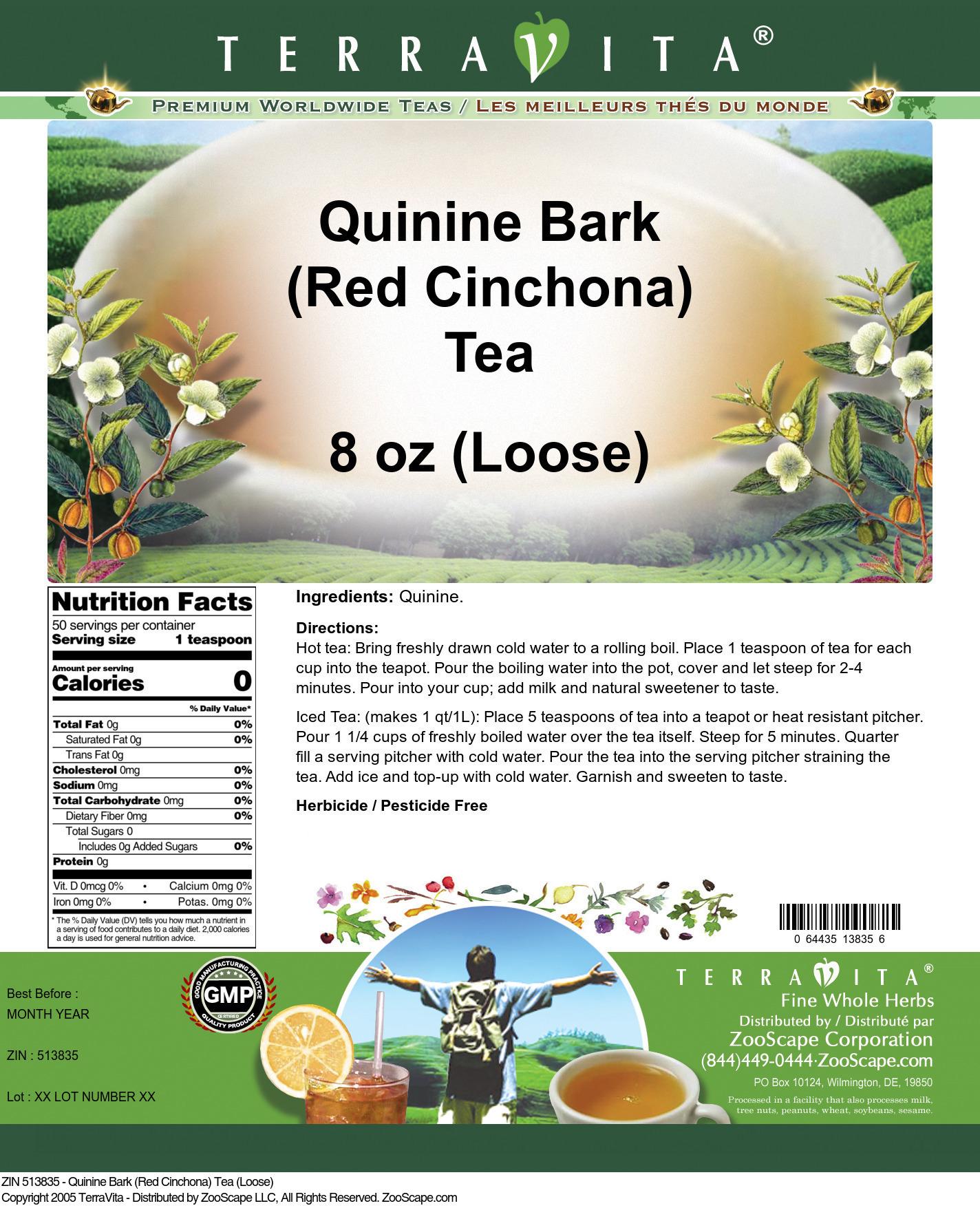 Quinine Bark (Red Cinchona) Tea (Loose)