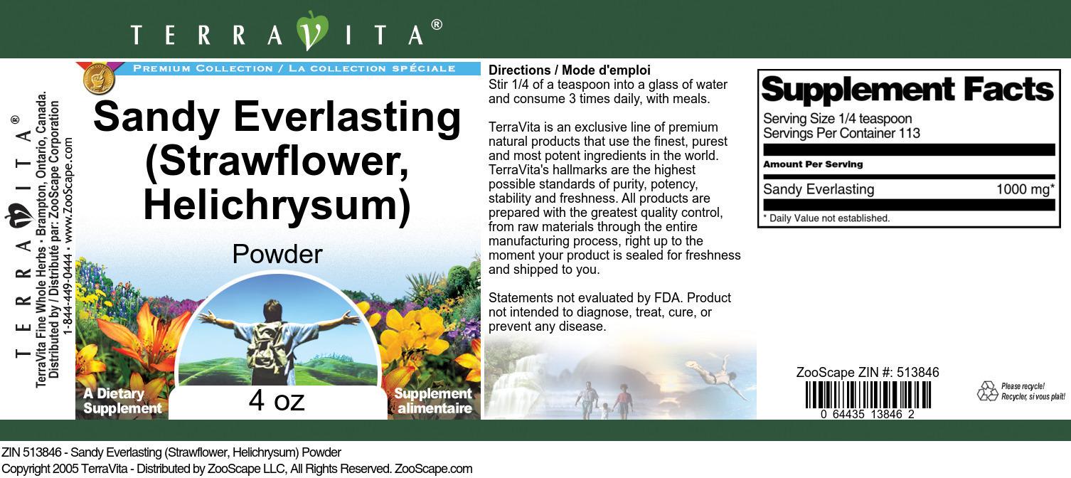 Sandy Everlasting (Strawflower, Helichrysum) Powder