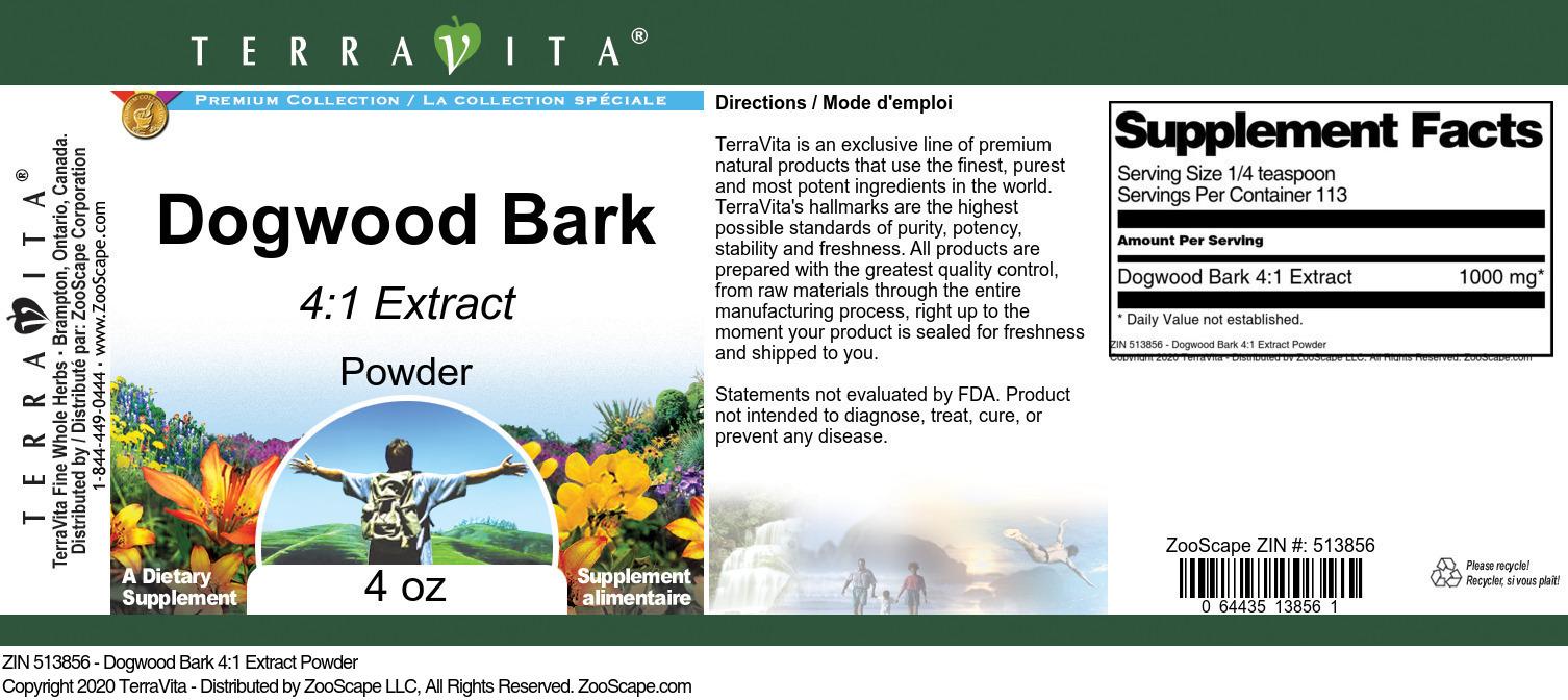 Dogwood Bark 4:1 Extract Powder