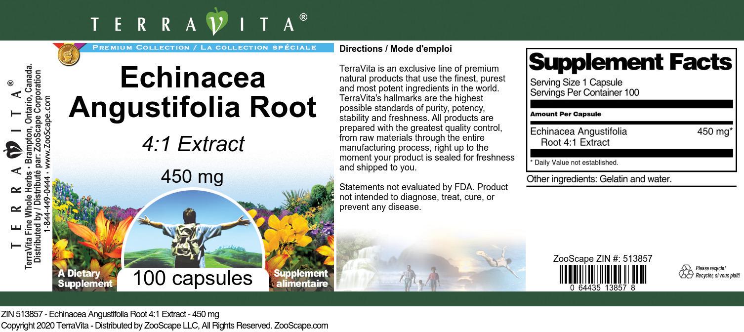 Echinacea Angustifolia Root 4:1 Extract - 450 mg