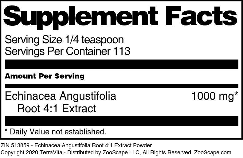 Echinacea Angustifolia Root 4:1 Extract Powder