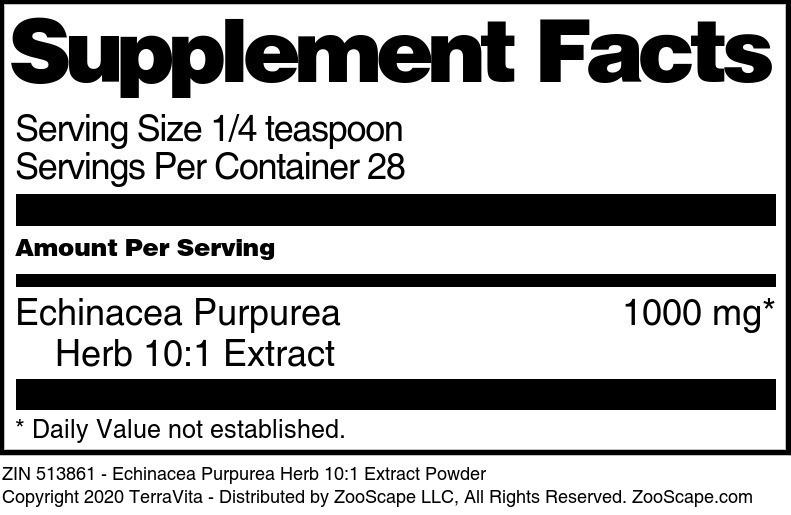 Echinacea Purpurea Herb 10:1 Extract Powder