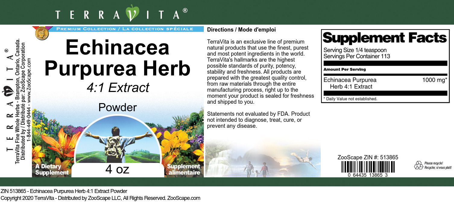 Echinacea Purpurea Herb 4:1 Extract Powder
