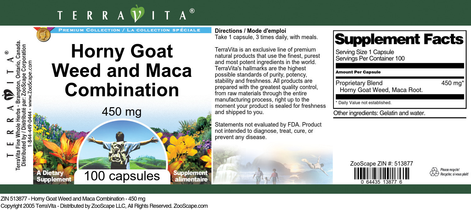 Horny Goat Weed and Maca Combination - 450 mg