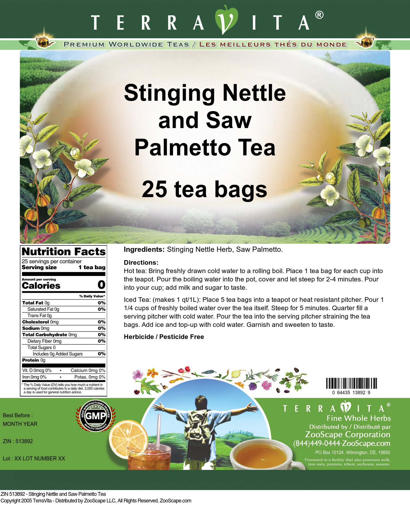 Stinging Nettle and Saw Palmetto Tea