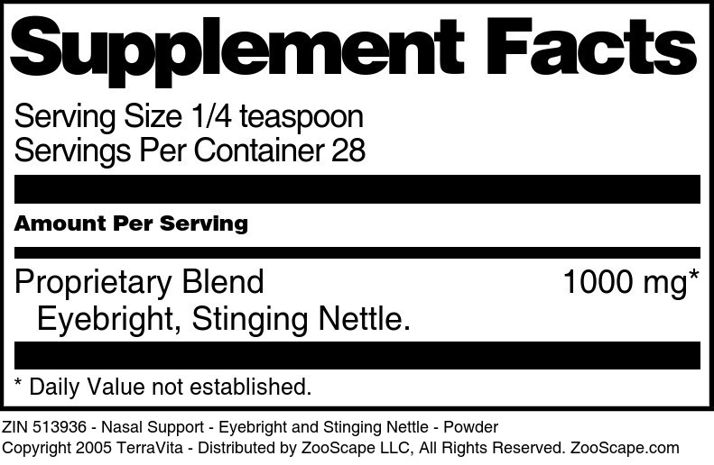 Nasal Support - Eyebright and Stinging Nettle - Powder