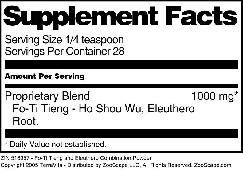 Fo-Ti Tieng and Eleuthero Combination Powder