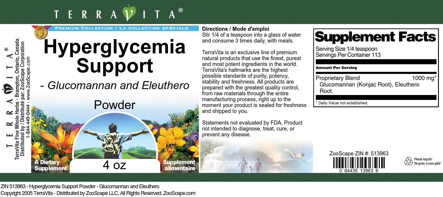 Hyperglycemia Support Powder - Glucomannan and Eleuthero