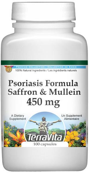Psoriasis Formula - Saffron and Mullein - 450 mg