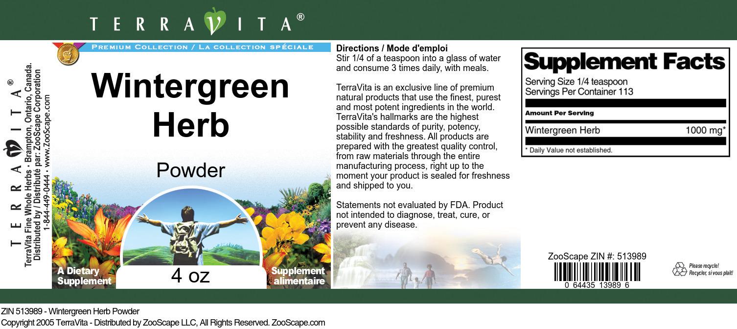 Wintergreen Herb Powder