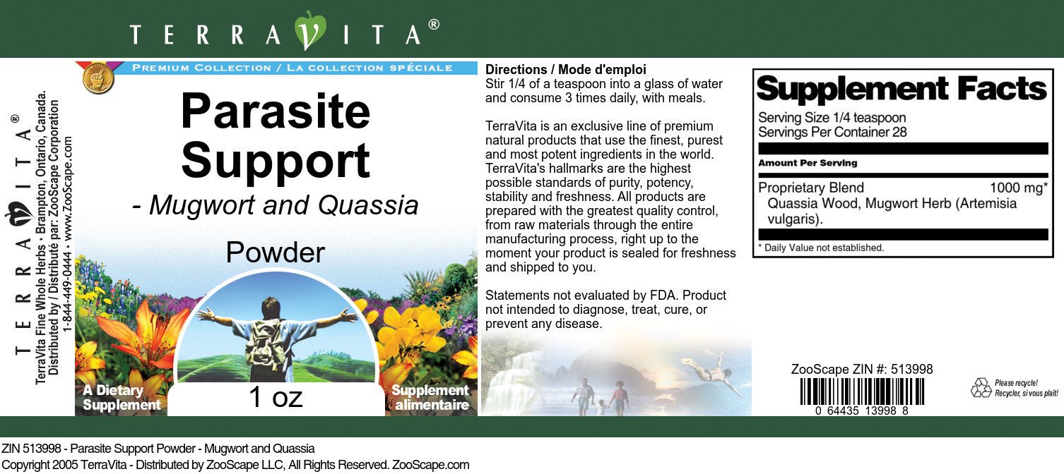 Parasite Support Powder - Mugwort and Quassia