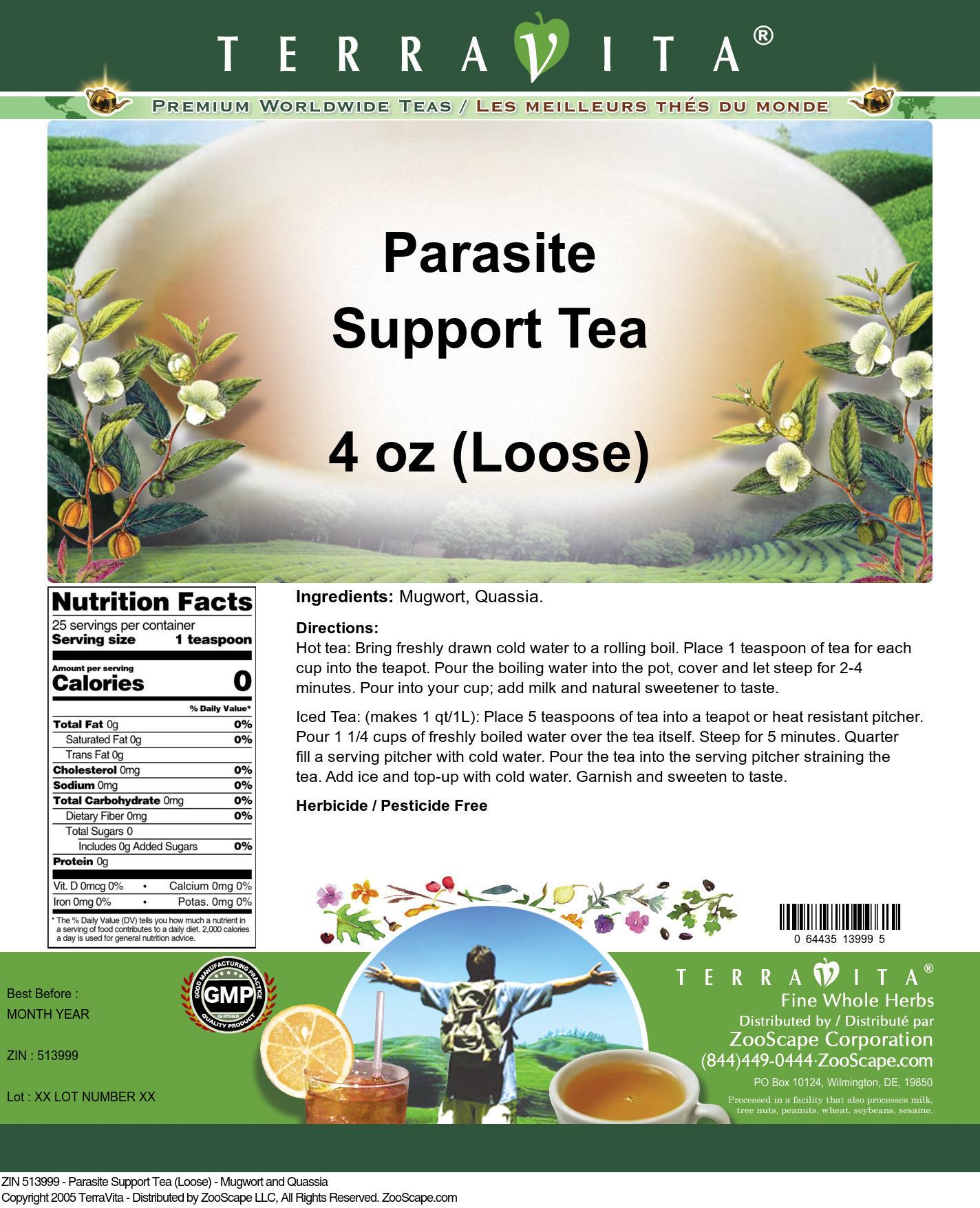 Parasite Support Tea (Loose) - Mugwort and Quassia