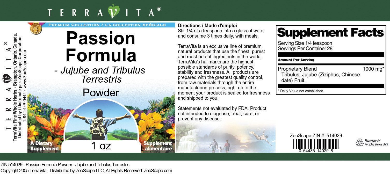 Passion Formula Powder - Jujube and Tribulus Terrestris