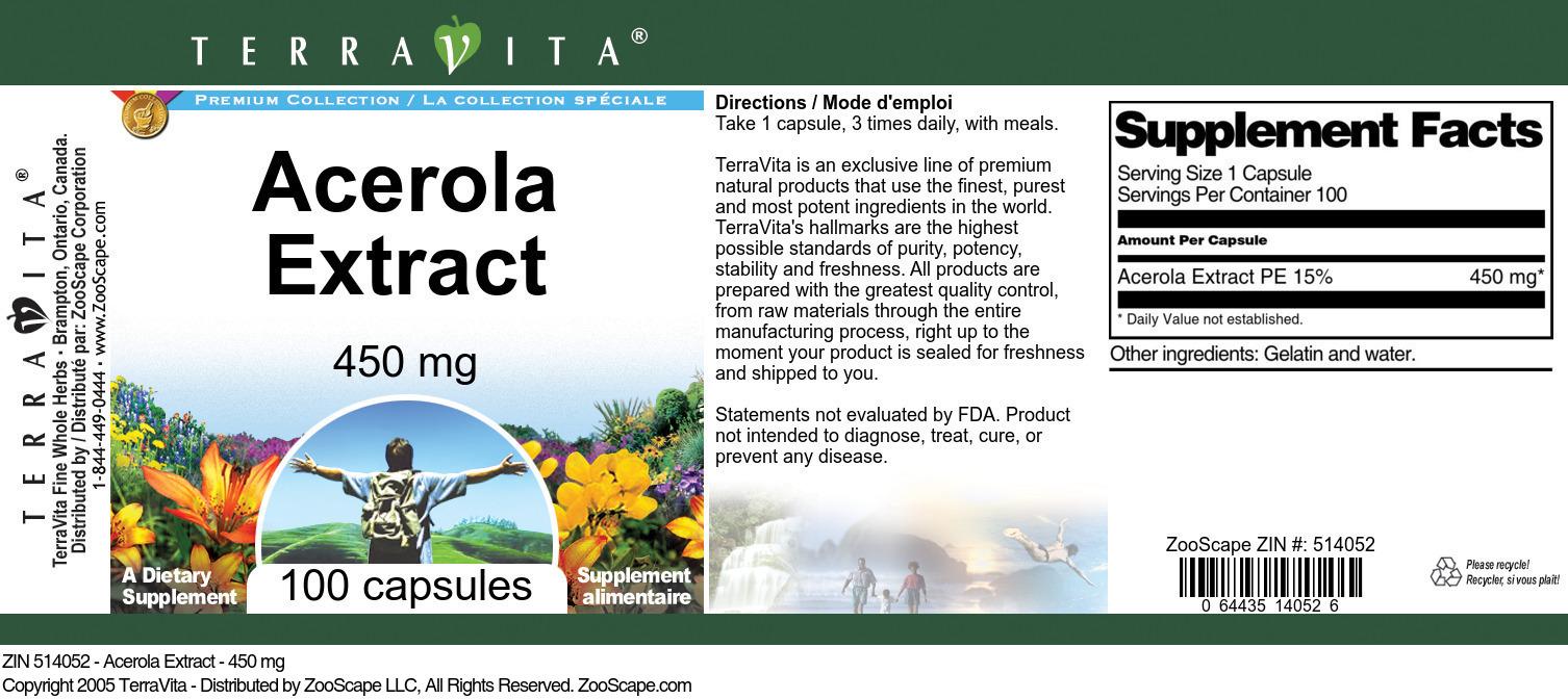 Acerola Extract - 450 mg