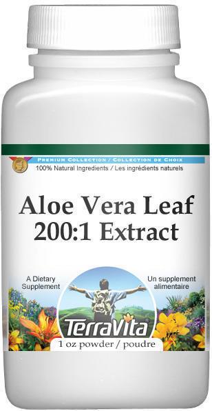 Extra Strength Aloe Vera Leaf 200:1 Extract Powder