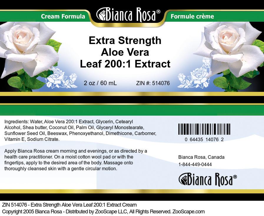 Extra Strength Aloe Vera Leaf 200:1 Extract Cream