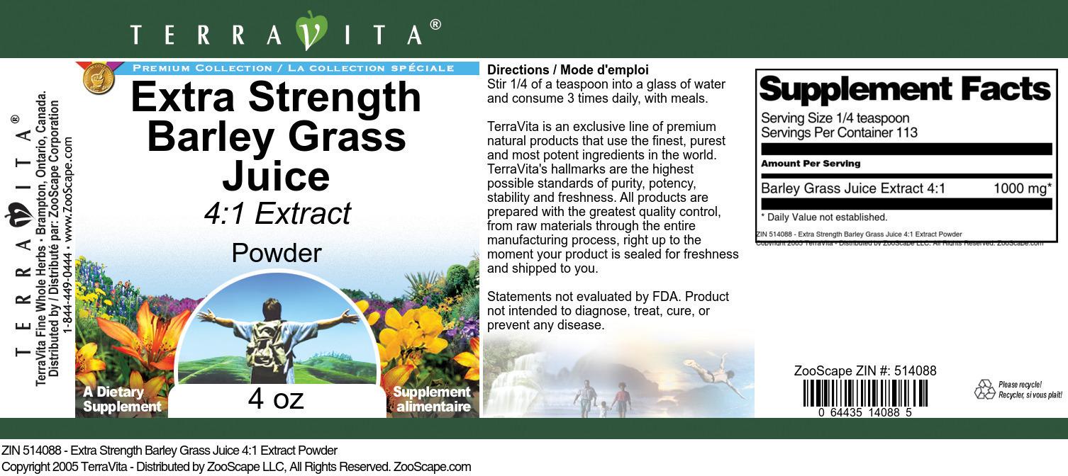 Extra Strength Barley Grass Juice 4:1 Extract Powder