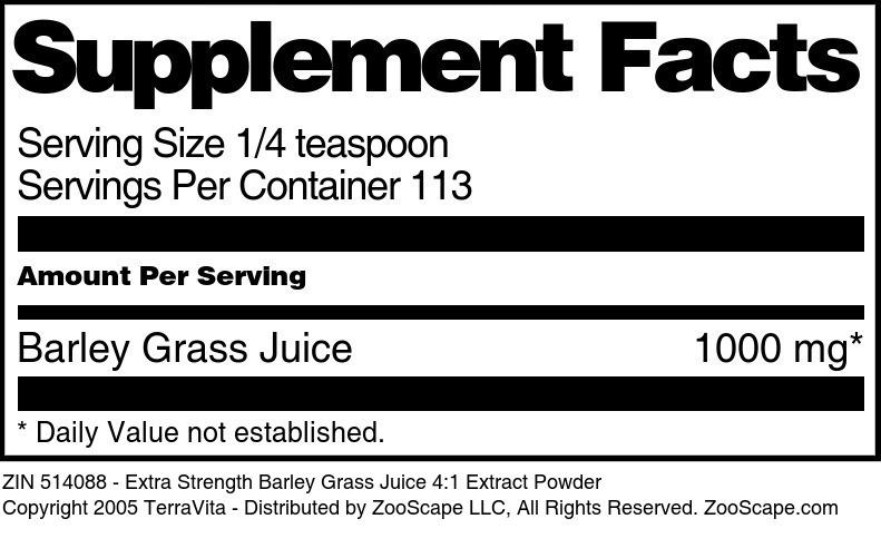 Barley Grass Juice Extract 4:1