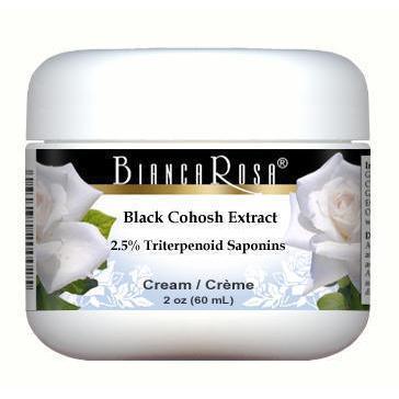 Extra Strength Black Cohosh Extract (2.5% Triterpenoid Saponins) Cream
