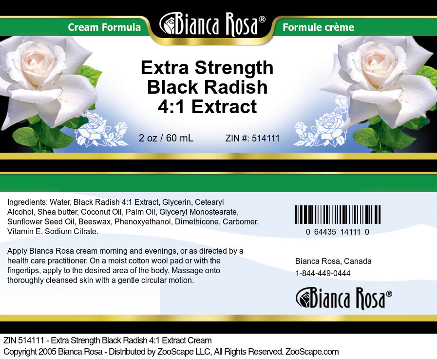 Extra Strength Black Radish 4:1 Extract Cream